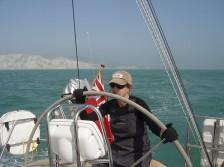 Janet sailing